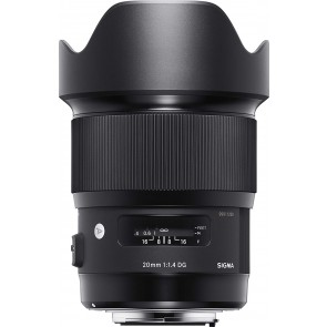 Sigma 20mm F1.4 DG HSM Art Lens for Canon DSLR Cameras